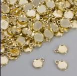 Zdjęcie - Dwustronna baza do zawieszki w kolorze złotym 10mm
