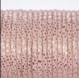 Zdjęcie - Rzemień klejony pastelowo różowy w cętki
