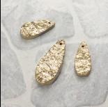 Zdjęcie - Kwarc górski dropy platerowane zestaw złoty