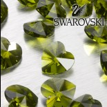 Zdjęcie - Swarovski heart 18 mm  olivine