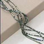 Zdjęcie - Hematyt platerowany kostka ścięta emerald 3x3mm