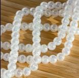 Zdjęcie - Kryształ górski kulka spękana AB biały 6mm