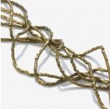 Zdjęcie - Hematyt przekładka wielokąt platerowana złota 2x1mm