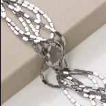 Zdjęcie - Hematyt platerowany prostokąt zaokrąglony srebrny 8x4mm