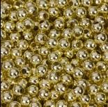 Zdjęcie - Kulki gładkie w kolorze złotym  6mm