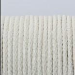 Zdjęcie - Rzemień klejony biały ze złotymi drobinkami 3mm
