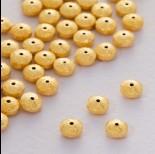 Zdjęcie - Srebrny koralik dysk satynowy ag925 pozłacany 5x2mm