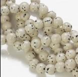 Zdjęcie - Jadeit marmurkowy kulka gładka biała nakrapiana 10mm