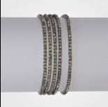 Zdjęcie - Bransoletka z kryształkami black diamond 16-20cm