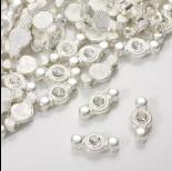 Zdjęcie - Przekładka z kryształkiem koloru srebrnego crystal  17mm