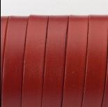 Zdjęcie - Rzemień naturalny płaski lakierowany 10x2mm brązowy