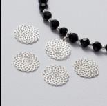 Zdjęcie - Zawieszka ażurowa rozeta srebrny 15 mm