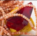 Zdjęcie - Opal brzoskwiniowy kulka fasetowana 3mm