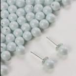 Zdjęcie - 5818 round pearl do kolczyków pastel blue 6mm