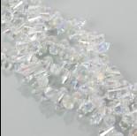 Zdjęcie - Kryształki drop fasetowane crystal AB 6x11mm