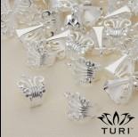 Zdjęcie - Krawatka ażurowa w kolorze srebrnym 16.5x12 mm