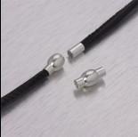 Zdjęcie - Zapięcie magnetyczne z kulką w kolorze srebrnym 3,5mm