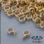 Zdjęcie - Gładka krawatka złota oponka 5mm