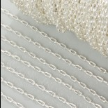Zdjęcie - Łańcuszek owale w srebrnym kolorze 1.5mm