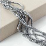 Zdjęcie - Hematyt oponka fasetowana srebrna 6x3mm