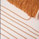 Zdjęcie - Łańcuch ze stali chirurgicznej simple pozłacany 3,5x2,5mm