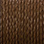 Zdjęcie - Rzemień pleciony brązowy 3mm