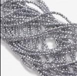 Zdjęcie - Hematyt kulki fasetowane srebrne 2mm