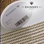 Zdjęcie - Taśma z kryształkami kolor złoty amethyst 2mm