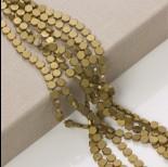 Zdjęcie - Hematyt platerowany sześciokąt płaski matowy stare złoto 6x6mm