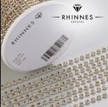 Zdjęcie - Taśma z kryształkami kolor srebrny lt. topaz 3mm
