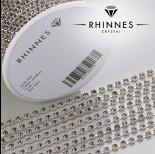 Zdjęcie - Taśma z kryształkami kolor srebrny lt. amethyst 3mm