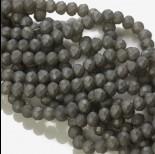 Kryształki oponki matowe hematite 6x8mm