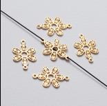 Zdjęcie - Rozgałęźnik kwiatek ażurowy złoty 22 mm