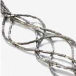 Zdjęcie - Hematyt platerowany matowy czworokąt srebrny 4x2mm