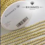 Zdjęcie - Taśma z kryształkami kolor złoty jonquil 3mm