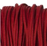 Zdjęcie - Rzemień zamszowy płaski czerwony 2,5x1mm