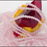 Zdjęcie - Kryształ górski różowy kulka fasetowana 3mm