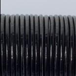 Zdjęcie - Rzemień klejony błyszczący czarny bambusowy 3mm