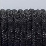 Zdjęcie - Rzemień szyty materiałowy czarny 6mm