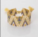 Zdjęcie - Bransoletka boho 13 rzędowa z koralików Matsuno 17-27cm