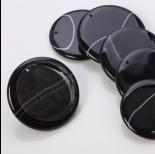Zdjęcie - Agat czarny zawieszka krążek czarny 40-50mm