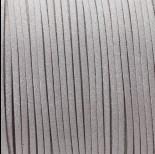 Zdjęcie - Rzemień zamszowy płaski srebrny z brokatem 1x2.5mm