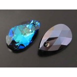 Zdjęcie - Swarovski pear-shaped 22mm bermuda blue