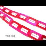 Zdjęcie - Masa perłowa prostokąt różowy 30mm