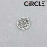 Zdjęcie - Zawieszka okrągła ażurowy medalik stal chirurgiczna z kółeczkiem  12mm
