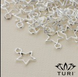 Zdjęcie - Zawieszka gwiazdka ażurowa w srebrnym kolorze 10.5mm