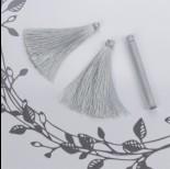 Chwost z wiskozy srebrny 6,5cm