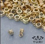 Zdjęcie - Krawatka z warkoczem do rzemieni w złotym kolorze 3mm
