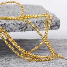 Zdjęcie - Hematyt kulki platerowane gładkie light gold 3mm