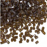 Rurki drobne shine dark brown 2x3mm